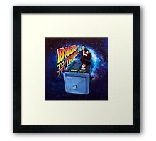 Time and Space Surfer Framed Print