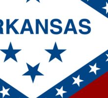 Flag Map of Arkansas  Sticker