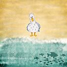 Seagull Watercolor Abstract by T-ShirtsGifts