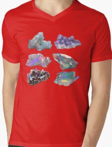 Crystals  Mens V-Neck T-Shirt