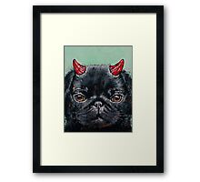 Devil Pug Framed Print