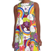 Happy Clouds and Rainbows A-Line Dress
