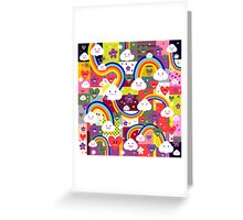 Happy Clouds and Rainbows Greeting Card