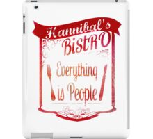 Hannibal's Bistro - everything is people (3) iPad Case/Skin