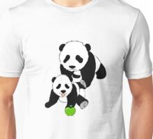 Mother and Baby Panda Bears Unisex T-Shirt