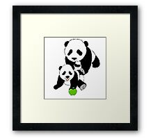 Mother and Baby Panda Bears Framed Print