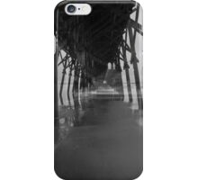 Under the Pier and Beach in Black and White iPhone Case/Skin