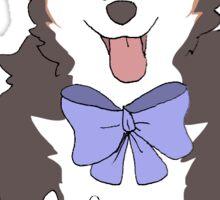 shiba bow doggo Sticker
