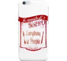 Hannibal's Bistro - everything is people (3) iPhone Case/Skin