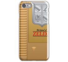 The Legend of Zelda Gold NES Cartridge Retro Gaming iPhone Case/Skin