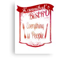Hannibal's Bistro - everything is people (3) Canvas Print