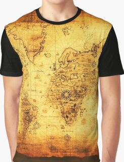 Vintage Old World Map Graphic T-Shirt