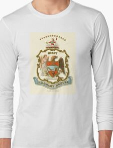 Historical Coat of Arms of Arkansas Long Sleeve T-Shirt