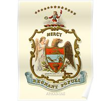Historical Coat of Arms of Arkansas Poster