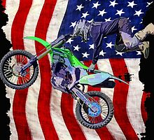 High Flying Freestyle Motocross Rider by NaturePrints