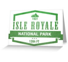 Isle Royale National Park, Michigan Greeting Card