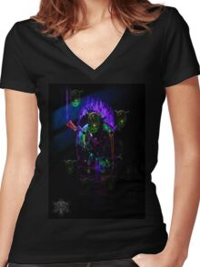 Cave of Alien Artifacts Women's Fitted V-Neck T-Shirt