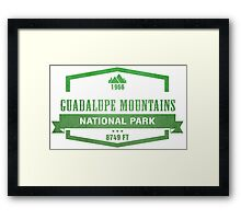 Guadalupe Mountains National Park, Texas Framed Print