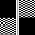 Stylish Black and white check and stripes by Auslandesign