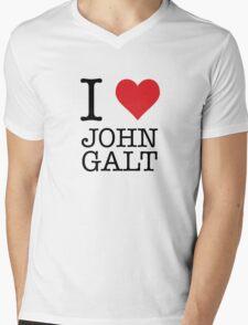 I Heart John Galt Mens V-Neck T-Shirt