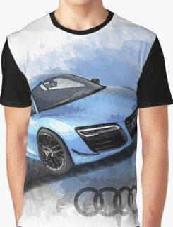 Audi R8 Watercolor Design Graphic T-Shirt