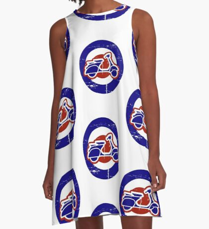 Weathered Mod Target and Scooter  A-Line Dress