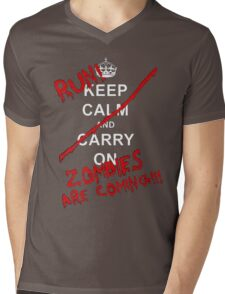 run zombies are coming! Mens V-Neck T-Shirt