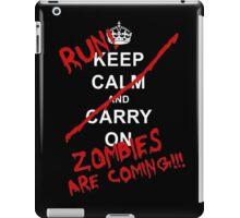 run zombies are coming! iPad Case/Skin
