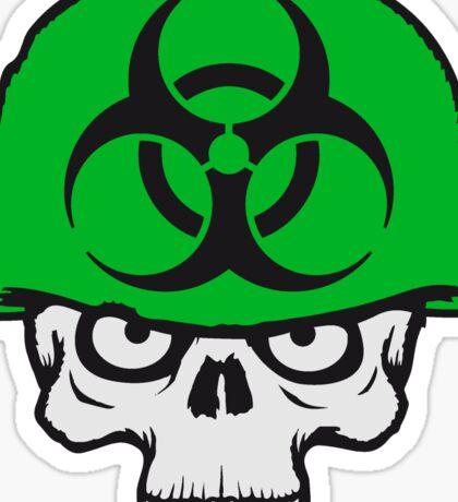 armee helm krieg zombie skelett böse soldat kämpfer waffe biohazard symbol zeichen  Sticker