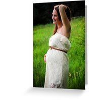 Tina Maternity Greeting Card