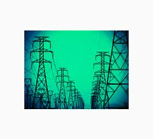 High Voltage Towers, Green Unisex T-Shirt