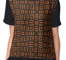 Warm African Tribal Design Chiffon Top