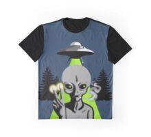 Smoking Alien Graphic T-Shirt