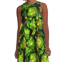 Seamless design abstraction Rose.  A-Line Dress