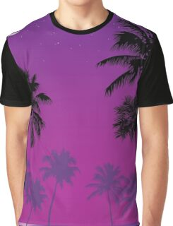 Palm Trees in the Moonlight Graphic T-Shirt