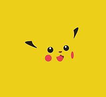 PIkachu Face / Pokemon by Dman329