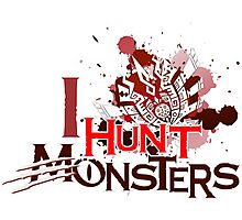 I Hunt Monsters Red Photographic Print