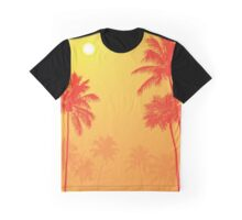 Palm Trees in the Sunset Graphic T-Shirt