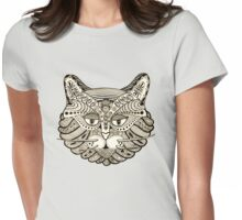 The all seeing cat Womens Fitted T-Shirt