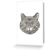 The all seeing cat Greeting Card