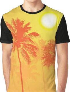 Palm Trees on a Hot Summer Day Graphic T-Shirt