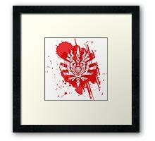 Monster Hunter logo red Framed Print