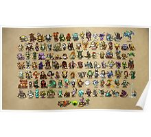 DOTA - All Character Chibi Cute Form Poster