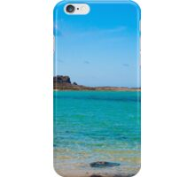 Fishing boat on Balos beach, island of Crete, Greece iPhone Case/Skin