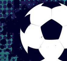 Soccer Ball on Rays Background 4 Sticker