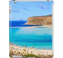 Amazing view over Balos Lagoon and Gramvousa island on Crete, Greece iPad Case/Skin