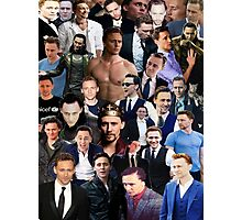 Tom Hiddleston Collage  Photographic Print