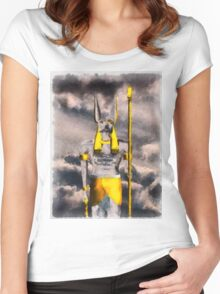 Gods of Egypt - Anubis Women's Fitted Scoop T-Shirt