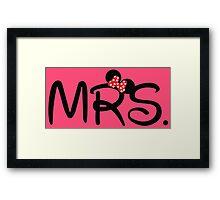 Mrs. Mouse Framed Print