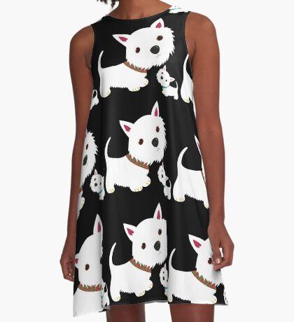 Westie & Pup A-Line Dress